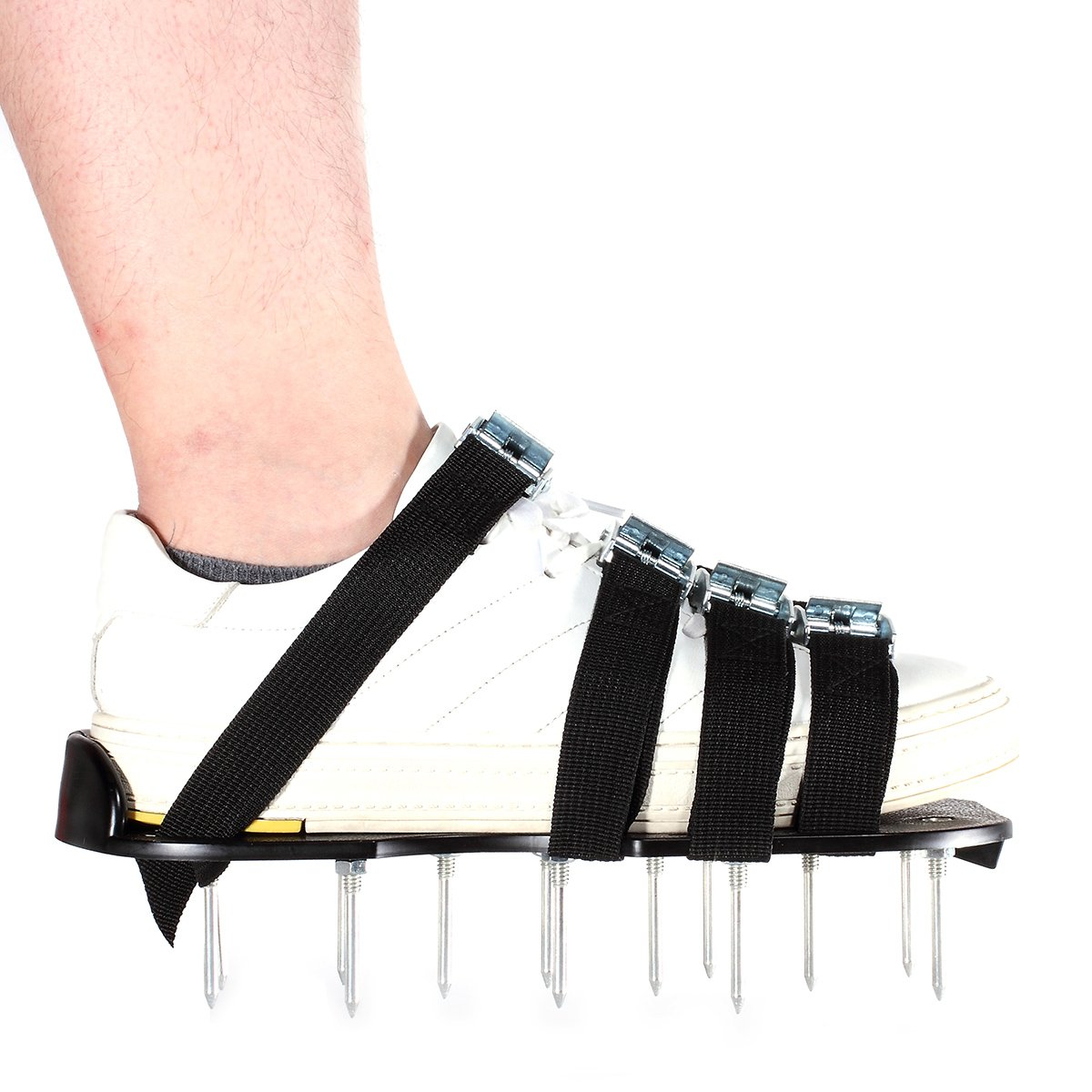 Dulcii Lawn Aerator Shoes with Heavy Duty Metal Buckles and 4 Adjustable Durable Straps, Free Size for Aerating Yard, Law and Grass by Dulcii (Image #2)