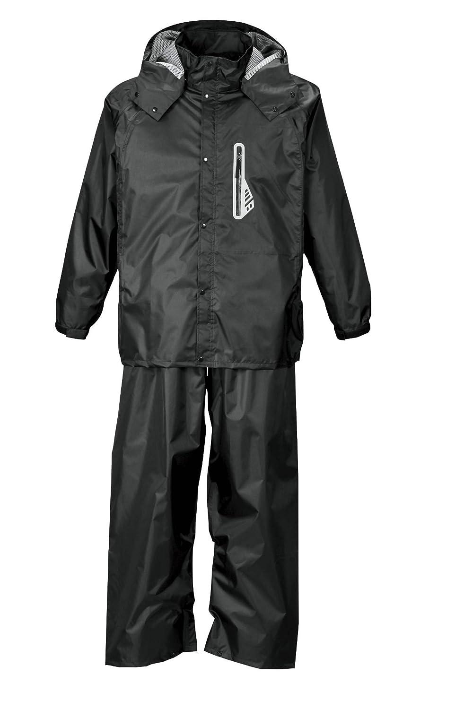 キングサイズ レインウェア 上下セット メンズ 透湿防水 C291024-01 B07BQSDST6 6L|ブラック ブラック 6L
