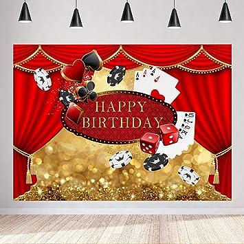 Fondo para fiesta de cumpleaños de casino de 2,13 x 1,52 m ...