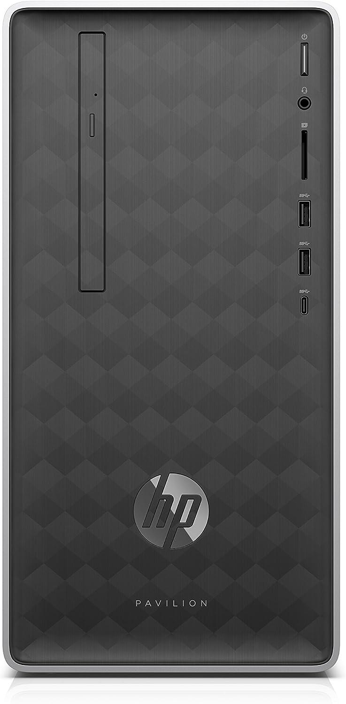 HP Pavilion Desktop Computer, AMD A9-9425, 4GB RAM, 1TB Hard Drive, Windows 10 (590-a0010, Ash Silver)
