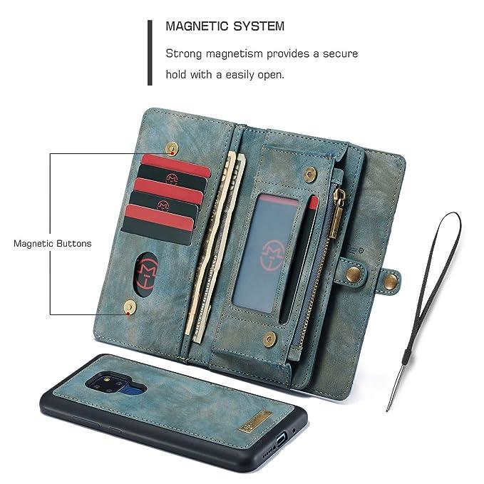e25af445860eb Geldbörse mit Handyfach für Huawei Mate 20 Handytasche Handyhülle Kredit  Karten Fach Geldklammer Flip Case Klapphülle Kunst Leder Handy  Schutzhülle