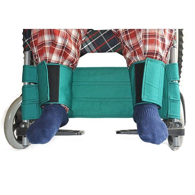 HEALIFTY Correa Para Piernas de Silla de Ruedas Cinturón de seguridad para pacientes discapacitados (Verde): Amazon.es: Salud y cuidado personal