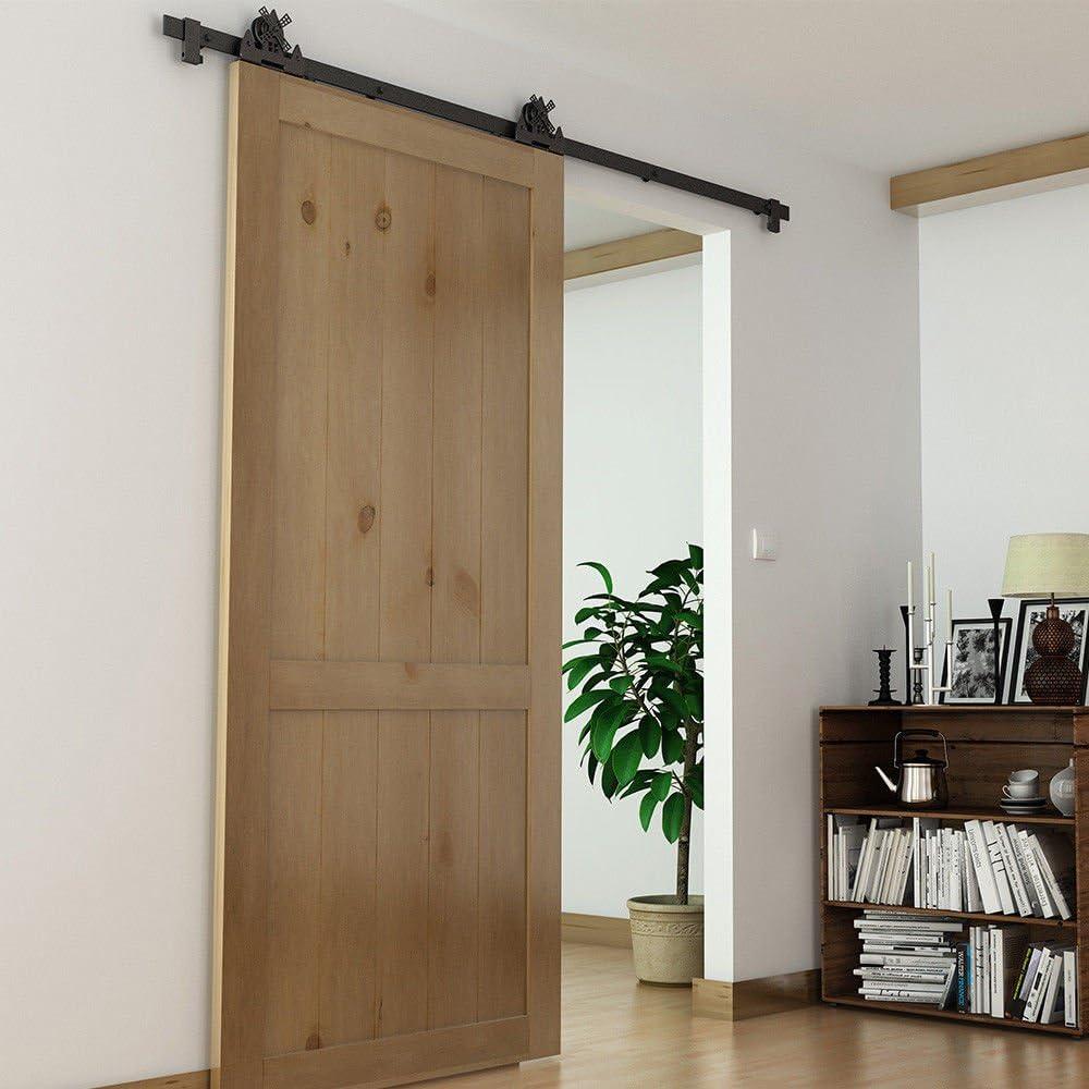 Juego de rieles de acero para puerta corredera de 2 x 3 pies, rodillo para molinillo de viento: Amazon.es: Bricolaje y herramientas