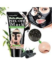 Black Mask,Maschere Viso,Maschera Nera,Rimuovere Punti Neri, Blackhead Remover Maschera Purificante peel-off Mask con carbone attivo per una profonda pulizia dei pori di crema per il viso (60g)