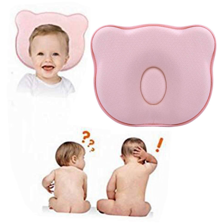 Kopfformungskissen 0-12 Monate Schaumkissen Flat Head Syndrome Prevention Babykissen f/ür Babykissen Baby Pillow zur Vorsorge der Plagiozephalie Babykopfkissen