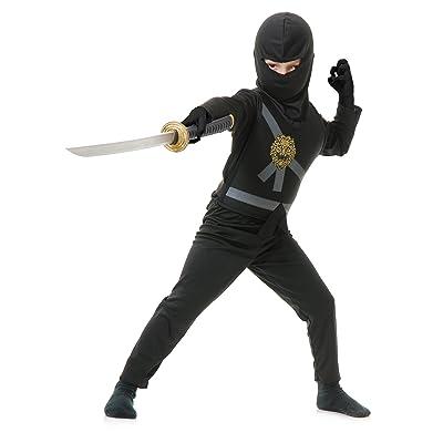 Charades Child's Ninja Avenger Costume, Black, Small: Clothing