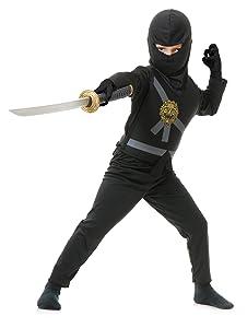 Charades Child's Ninja Avenger Costume, Black, Small