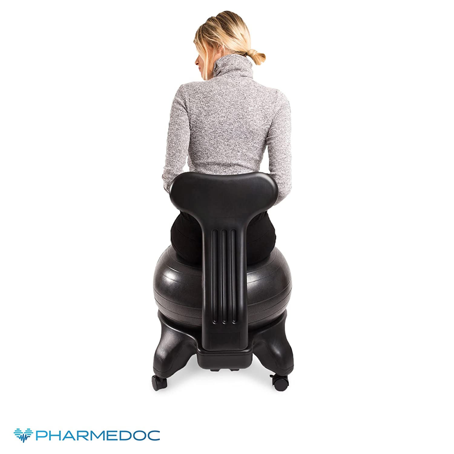 Amazon Balance Ball Chair with Back Support for Home and