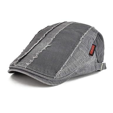 Hombres Hombres Verano Gorra Retro Cabbie Rayas Gorra Moda Hat ...