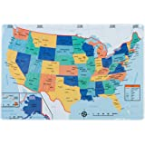 UNITED STATES PLACEMAT - US Map on front with Quiz on back - For Children and Adults