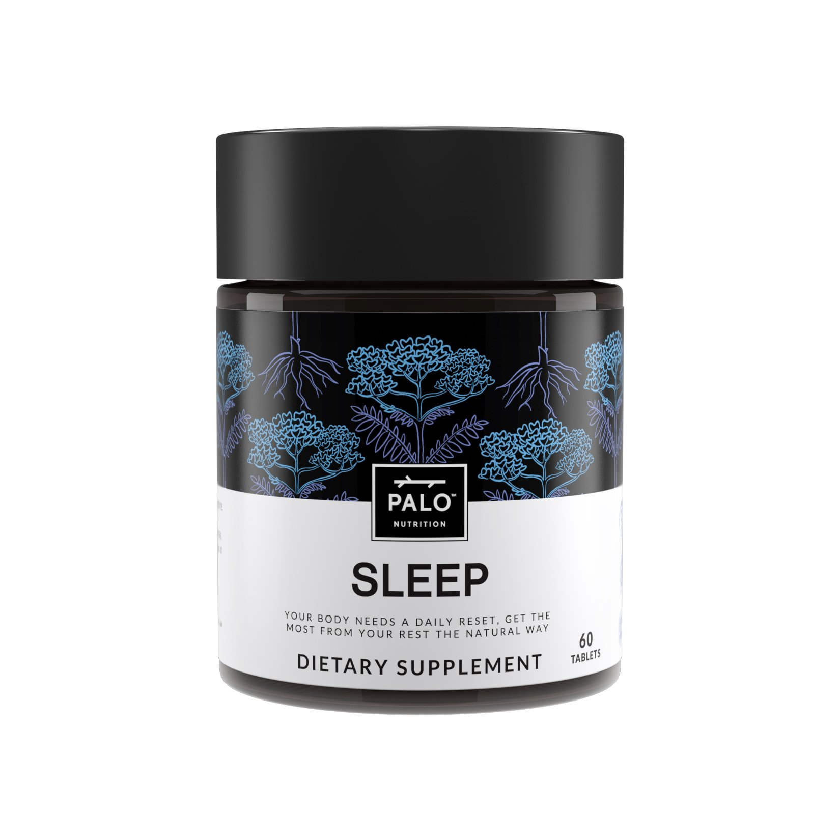 Natural Sleep Aid, Non-Habit Sleep Supplement. All Natural Formula with Valerian Root, Passion Flower, Hops, California Poppy, Minerals and Antioxidants. By PALO Nutrition