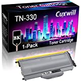 Cuxwill (1-Pack, Black) Compatible TN-330 TN330 Toner Cartridge TN360 Used for Brother DCP-7040 DCP-7045N HL-2140 HL-2150N HL
