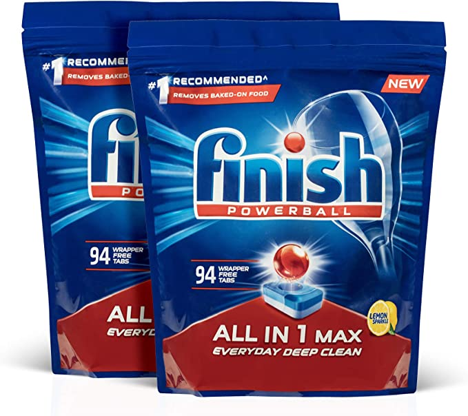 Finish Powerball All In 1 Max Dishwasher Tablets, Lemon, 188 Pack (2x94): Amazon.com.au: Health & Personal Care