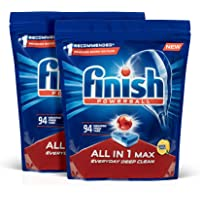 Finish Powerball All In 1 Max Dishwasher Tablets Lemon 188 Pack, 3.2 kilograms