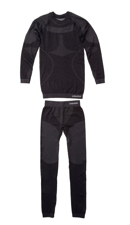 Seamless-Funktionsunterwäsche (ohne störende Nähte) für Mädchen und Jungen, Farbe schwarz, erhältliche Größen 98/104, 110/116, 128/134, 140/146, 152/158