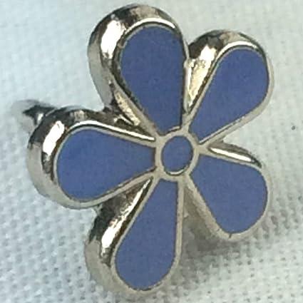 0aa6b25c15e Amazon.com : Forget-Me-Not Flower Alzheimer's Awareness Enamel Badge ...