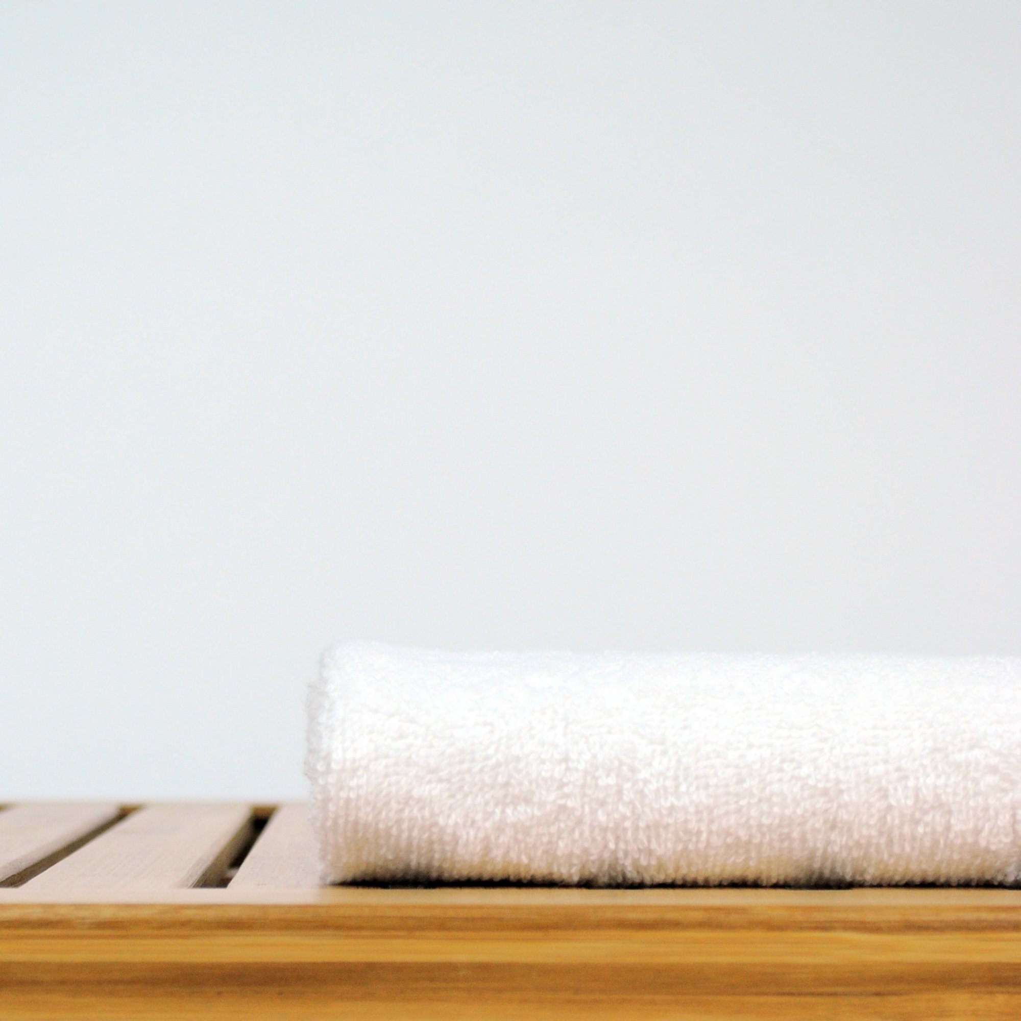Bare Cotton Luxury Hotel & Spa Towel Turkish Cotton Wash Cloths,White, Piano, Set of 12 by BC BARE COTTON (Image #4)
