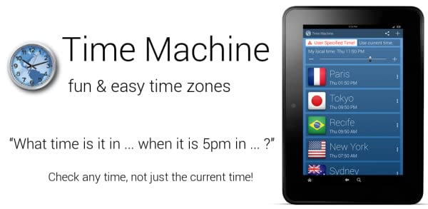 Time Machine - World Clock (No Ads):Amazon com au:Mobile Apps