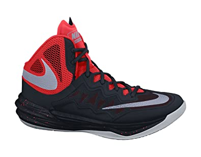 2d67ae2b7cbe Nike Men s s Prime Hype DF II Basketball Shoes Black Silver Orange Gray (