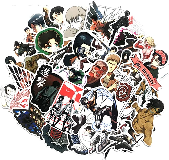 Top 9 Attack On Titan Laptop Stickers