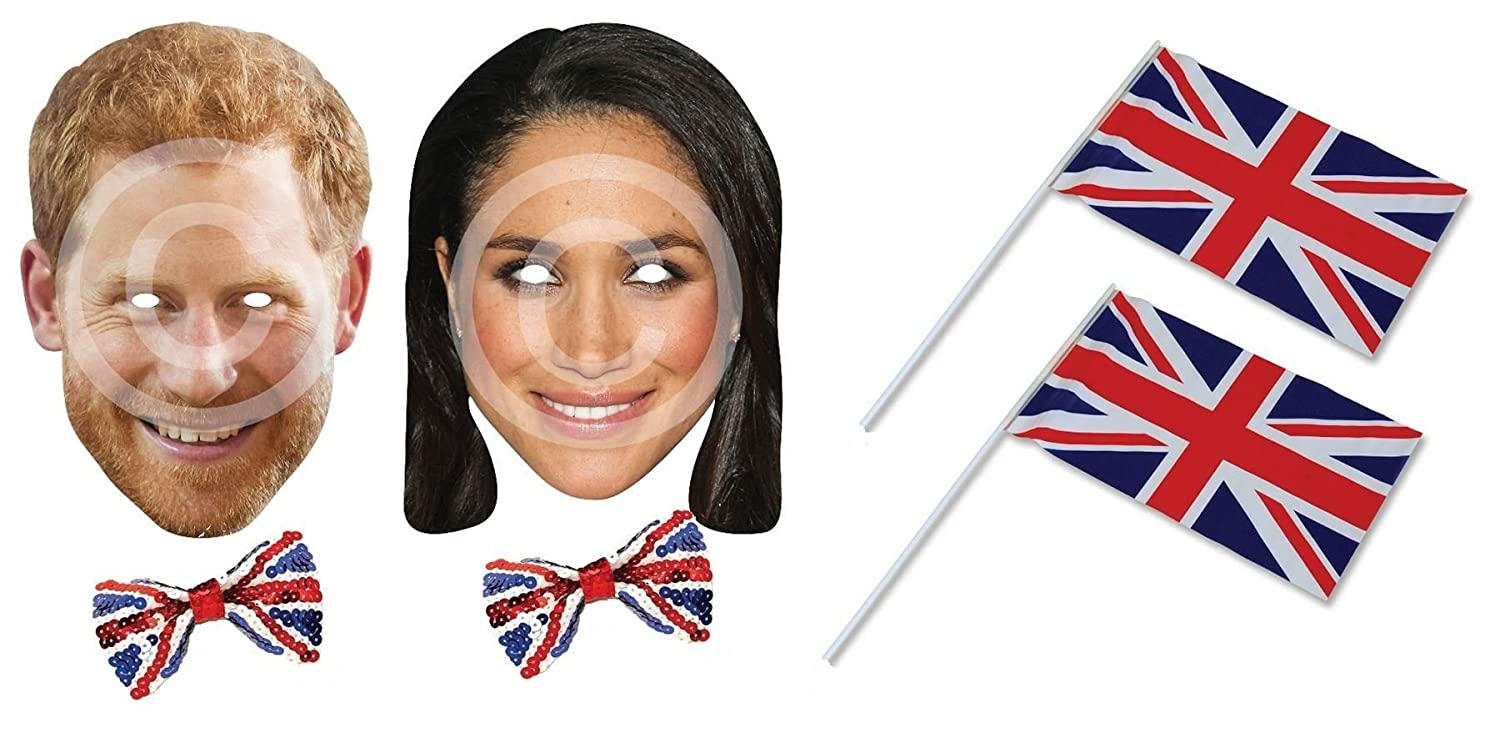 Masks Are Pre-Cut! Prince Harry and Meghan Markle Royal Wedding Card Masks V2