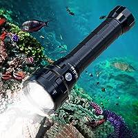 Wurkkos DL70 duiklamp, 13000 lumen duikzaklamp, 4* Cree XHP50.2 (3V) leds onderwater zaklamp met 2 * 26650 5000mAh…