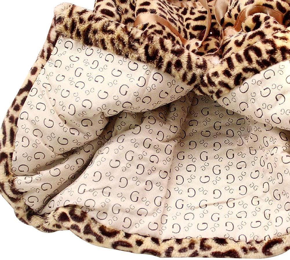 Giacca Bimba,Giacca da Principessa con Pelliccia di Leopardo delle Ragazze Cappotto Caldo da Snowsuit,Cappotti Cappotto Capispalla Parka Giubbotto Ragazza Invernale Elegante