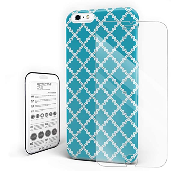 sports shoes a22fc 5175a Amazon.com: iPhone X Case, Tiffany Blue Simple Geometric Lattice ...