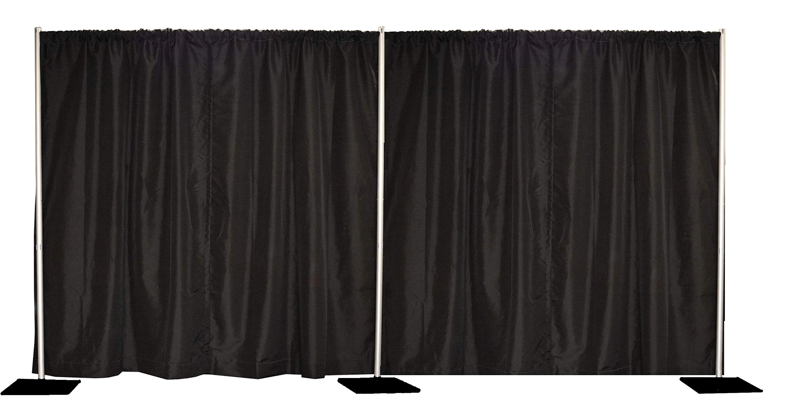 8'x20' Pipe and Drape Backdrop Kit in Premier Fabric (8'x20' Black) by Crowd Control Center