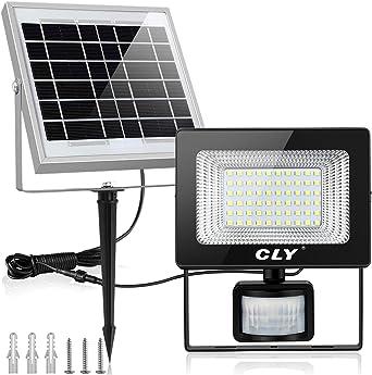 Projecteur LED Solaire Avec Détecteur, CLY 60LED Lampe Solaire Exterieur  Avec Détecteur, Spot Solaire Exterieur Avec Détecteur Etanche IP66 Pour ...