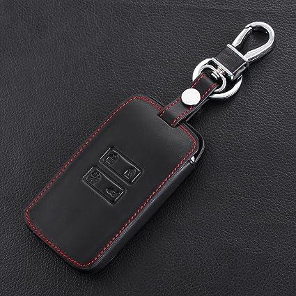 Llave de Coche Funda Estuche llavero llave de coche – Cubierta de piel auténtica piel llavero: Amazon.es: Coche y moto