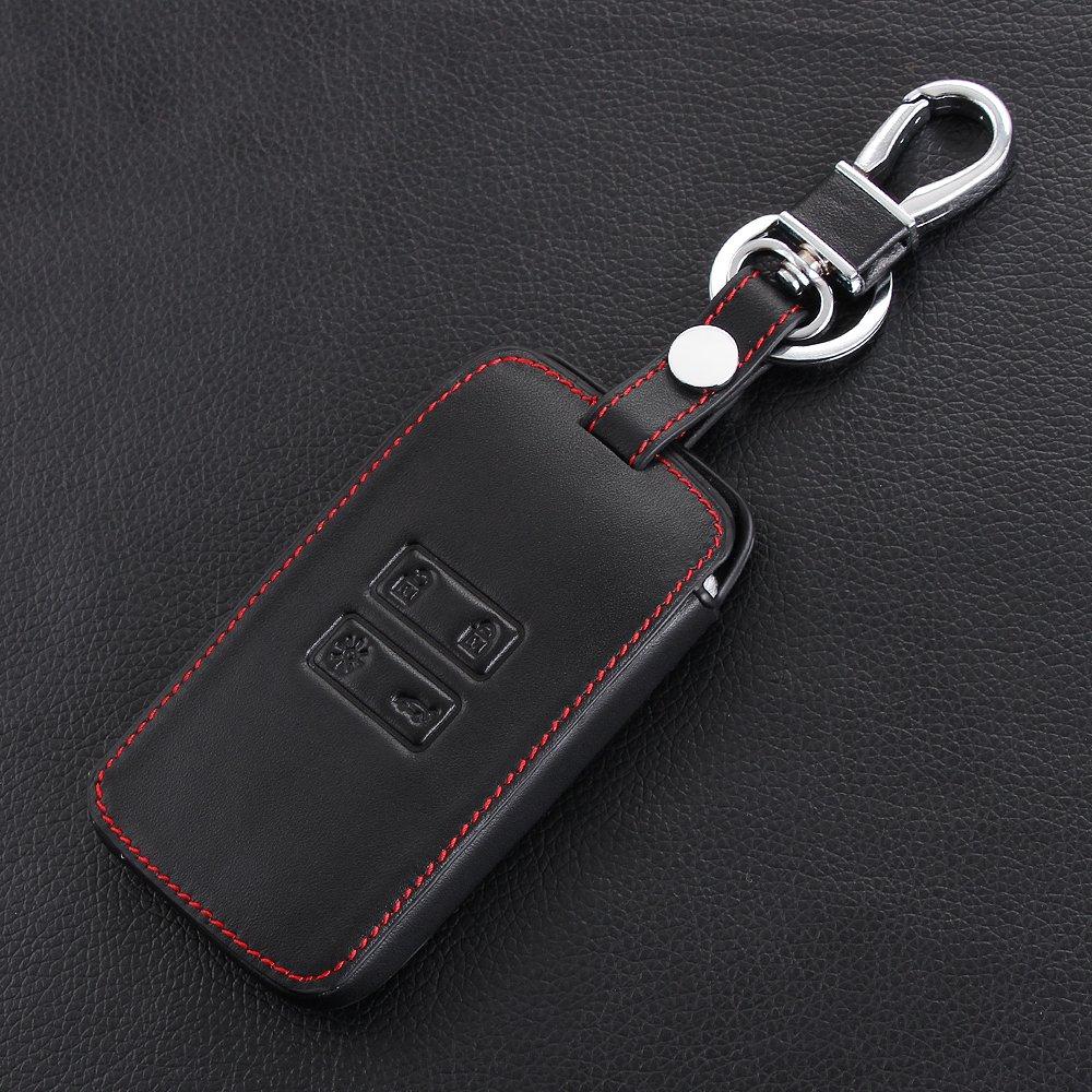 /Étui de protection en cuir v/éritable pour cl/és de voiture