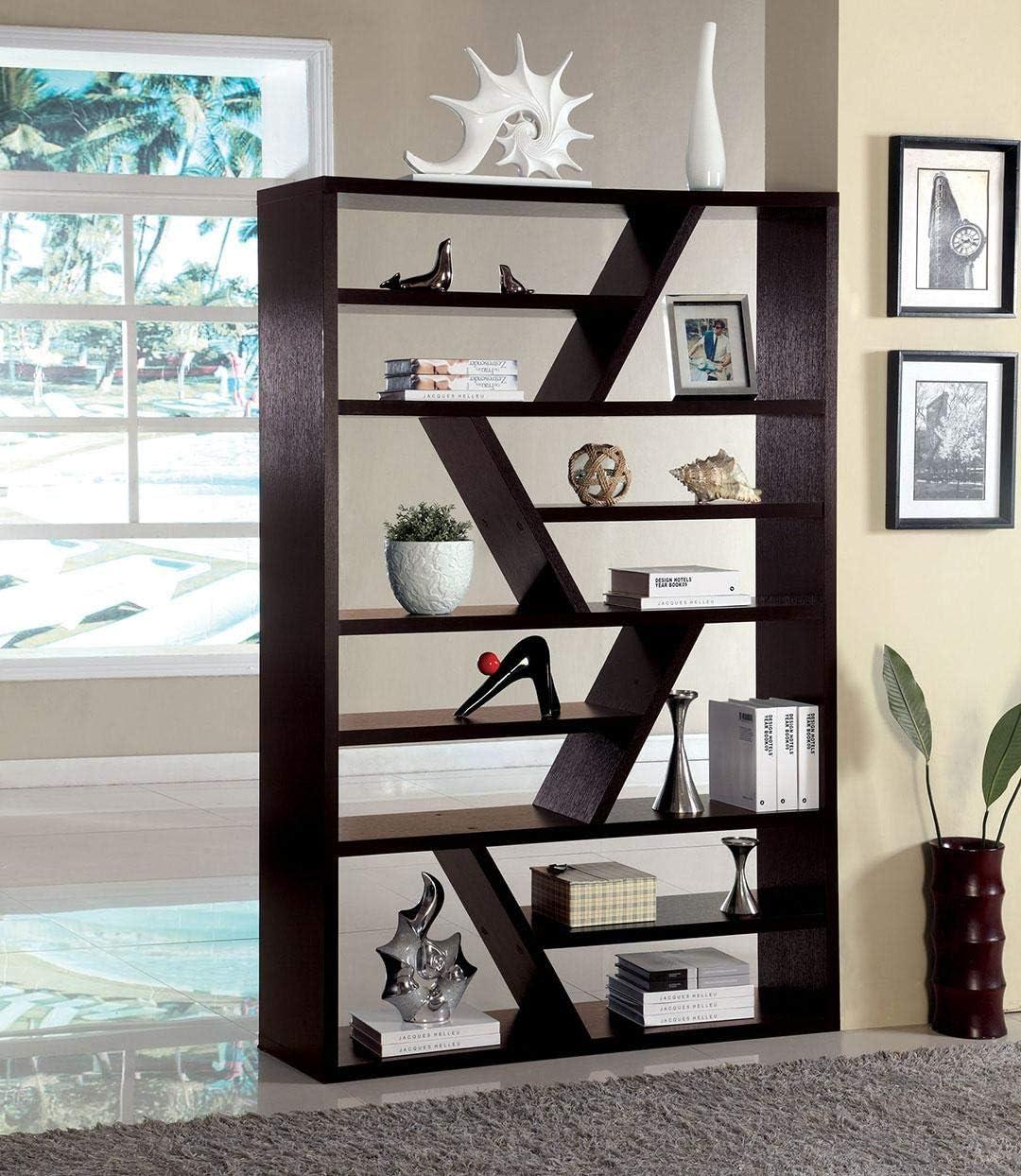 Furniture of America Kamloo Display Shelf, Espresso
