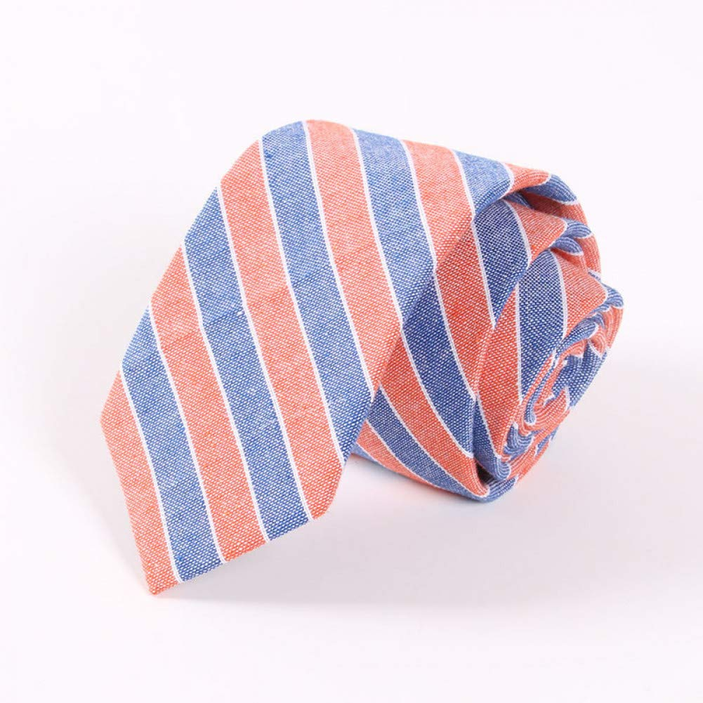 KYDCB Moda para Hombre Corbata de algodón 6.5 cm Flaco Mano Coser ...