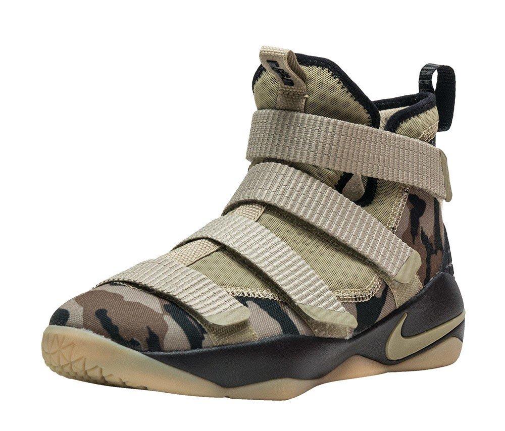 Nike Lebron Soldier XI 11 G.S Big Kids Youth Neutral Olive/Sequoia/Hazel Rush 918369-200 (4) by NIKE
