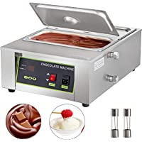 Happybuy Electric Chocolate Melting Pot Machine 2Tanks Commercial Electric Chocolate Heater 1000W Digital Control Two Pan Electric Chocolate Melter