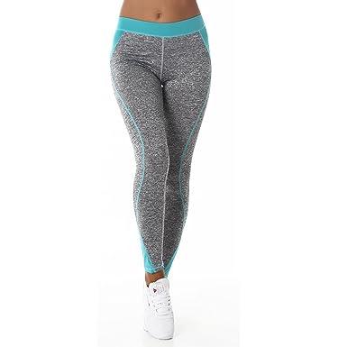 Legging leggings Fitness Femme Vêtements de sport Sport Jogging Gris  extensible Yoga Entraînement élastique de fitness fe347c0eca5