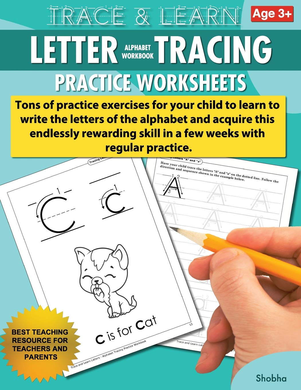 Download Trace & Learn Letters Alphabet Tracing Workbook Practice Worksheets: Daily Practice Guide for Pre-K Children (Volume 1) pdf epub