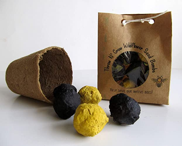 Amazon com: Save the Bees Wildflower Seed Bombs/Annual Wildflower