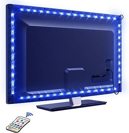 Led tv retroilluminazione, omeril 2.2m retroilluminazione led tv con 16 colori e 4 modalità 830510