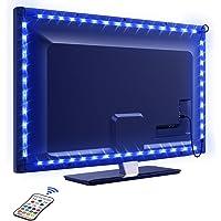 Tira LED TV 2.2M, OMERIL 5050 Tiras LED USB Impermeable con Control Remoto, 16 RGB Colores y 4 Modos, Retroiluminacion…