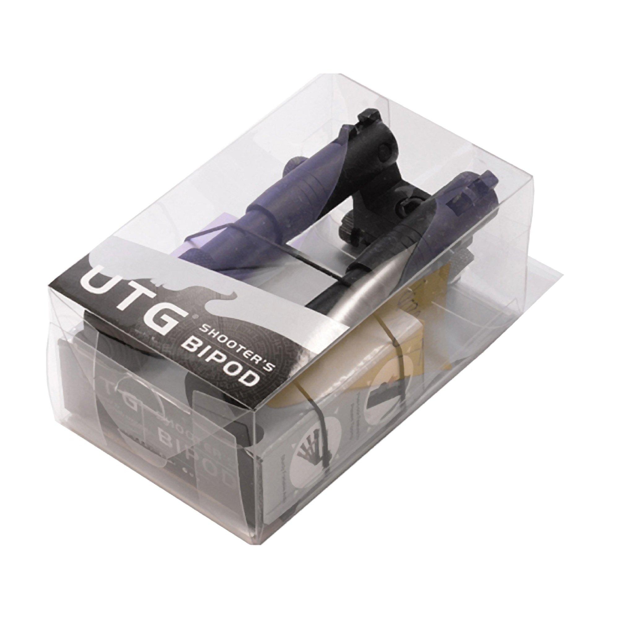 UTG Shooter's SWAT Bipod, Rubber Feet, Height 6.2''-6.7'' by UTG