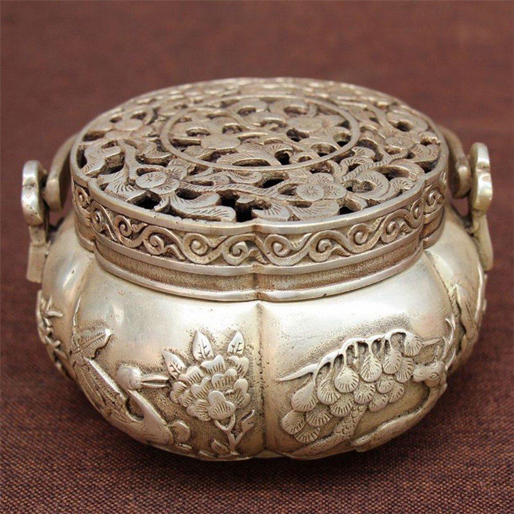 Ancien Ming Et Qing Antique Aromathérapie Artisanal Antique Cuivre Encens Antiquités Antiquités Antiquités Fumé en