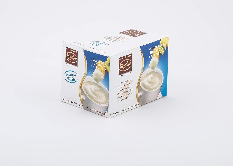 ESSENZIA - Chocolate blanco a la taza Reybar en polvo - 10 sobres: Amazon.es: Alimentación y bebidas