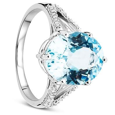 bague solitaire diamant or blanc femme