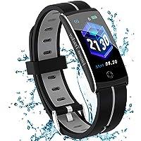 Fitnessarmband met hartslagmeter, bloeddrukmeting, fitnesshorloge, waterdicht IP67, fitnesstracker, slaapmonitor…