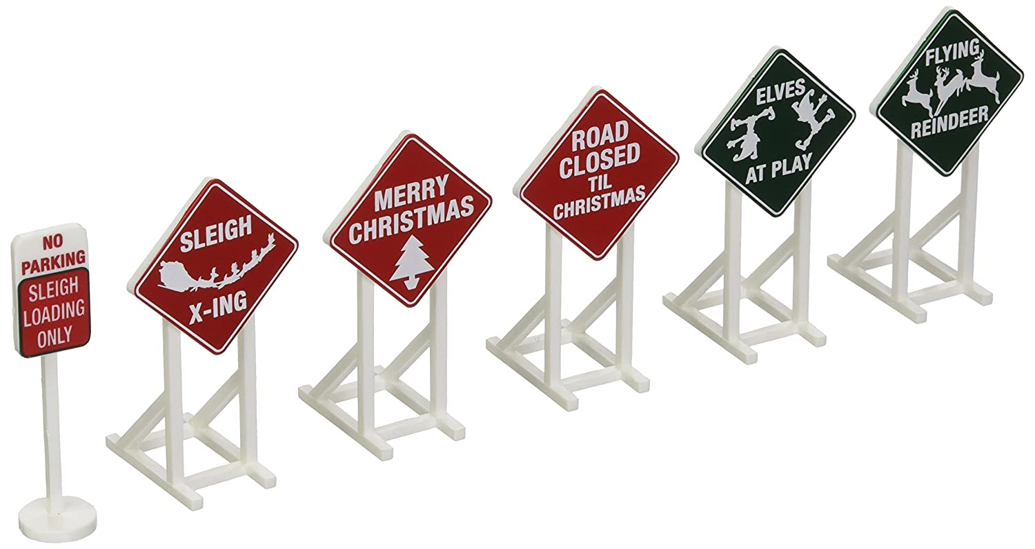Lionel Christmas Railroad Signs