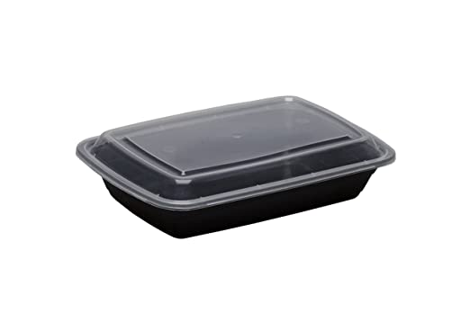 Safepro 28 oz negro rectangular recipiente para microondas ...
