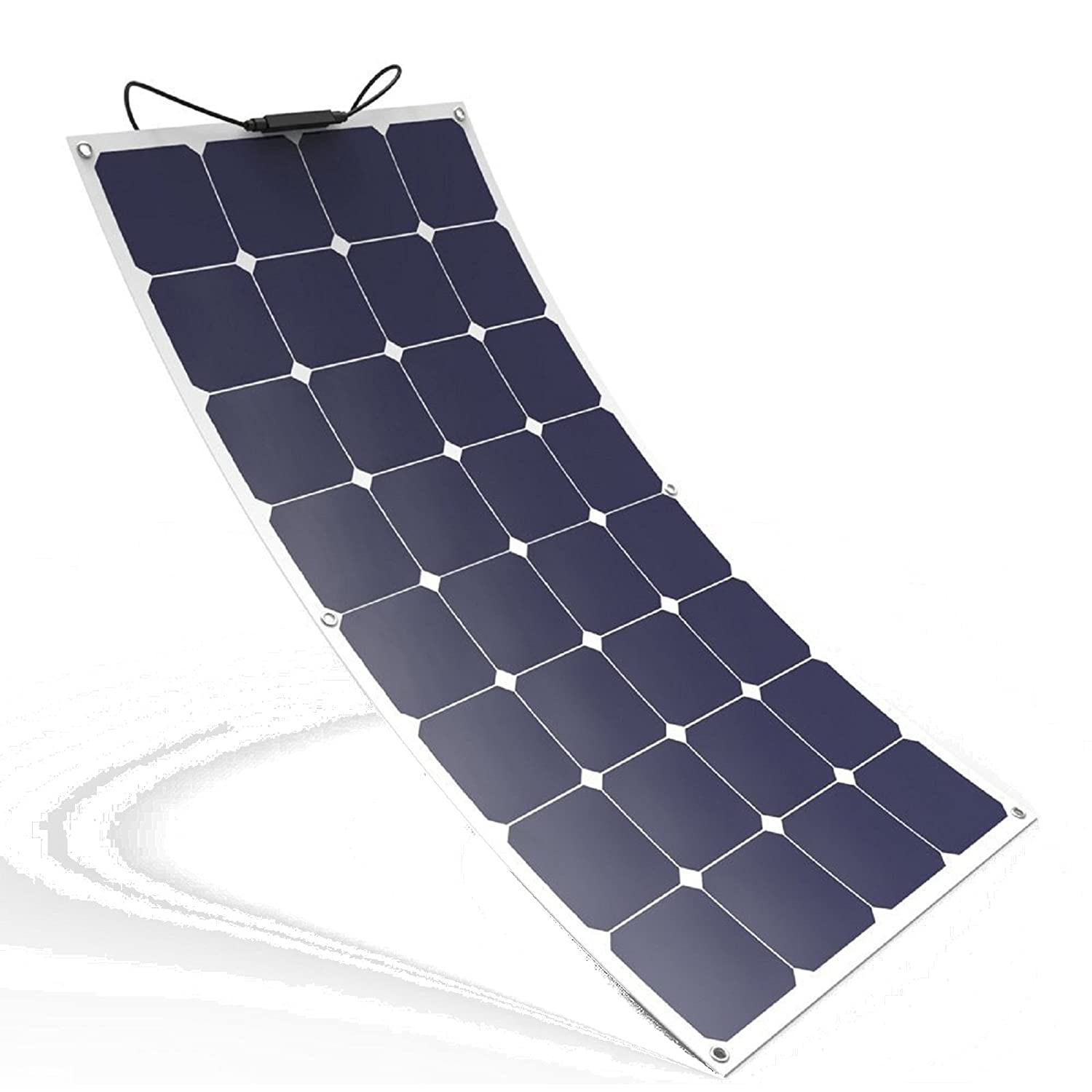 Campervan rv 100 Caravan Spark 100W Flexible Durable Solar Panel Made of Back-Contact Cells Charging kit for Motorhome Boat or Yacht