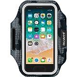 ランニング スマホ アームバンド Auwet【立体式デザイン 指紋認証対応】夜間反射 小物収納 調節可能 メンズ レディース兼用 イヤホン穴付き ジョギング トレーニング用 スポーツ スマホケース ランニングポーチ iPhone 11 Pro Max/11 Pro/XR/Xs Max/XS/X/11/8/7/6S/6 Plus Galaxy Xperia Android 6インチ以下スマホに対応
